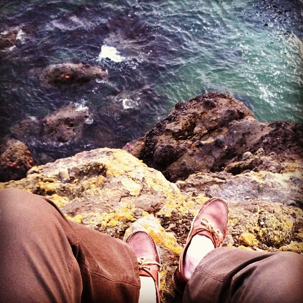 Sperrys above the ocean - Photo by Elias Carlson