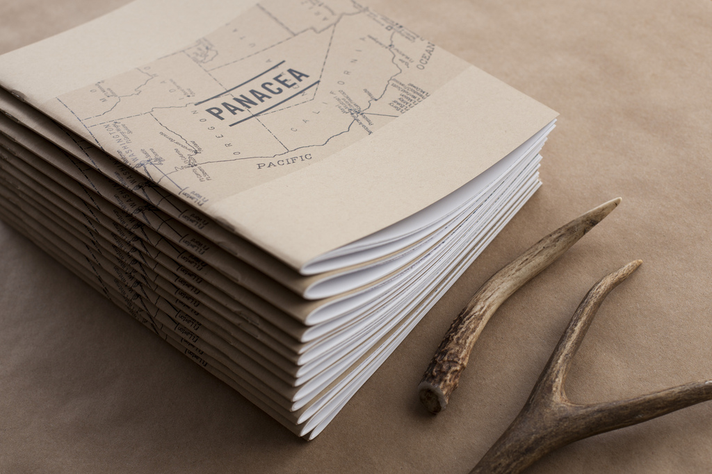 PANACEA photo book cover with antlers